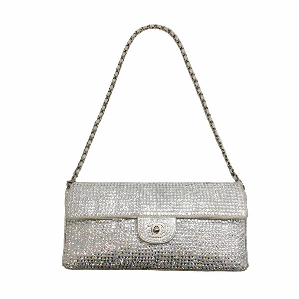 Chanel Strass Flap Silver Swarovski Shoulder Bag