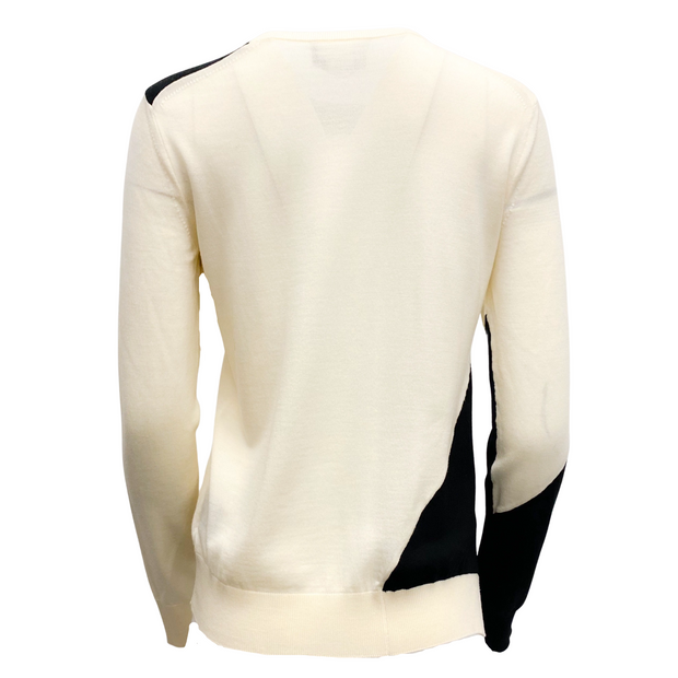 Calvin Klein 205W39NYC Wool Color Block Ivory Sweater