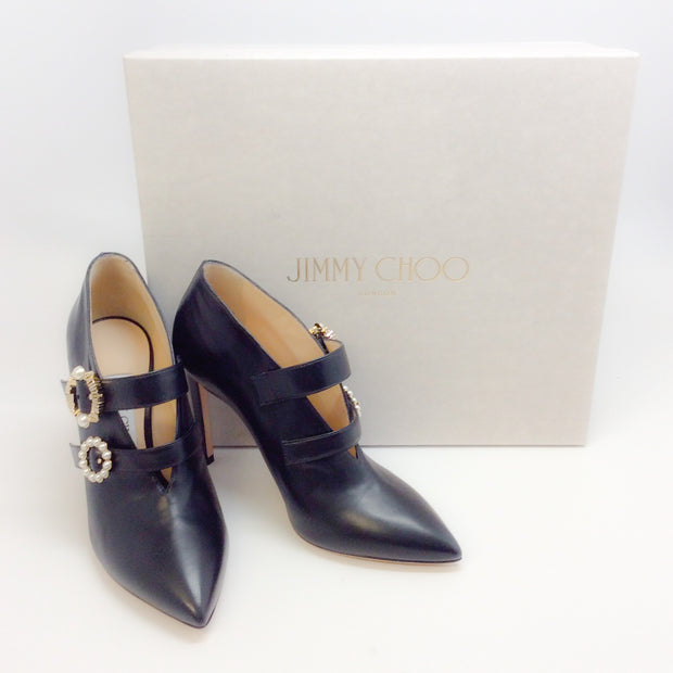 Jimmy Choo Black Larissa 100 Pumps