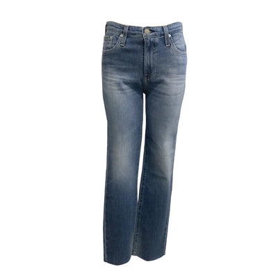 AG Adriano Goldschmied 12 Year The Isabelle High-rise Crop Straight Leg Jeans