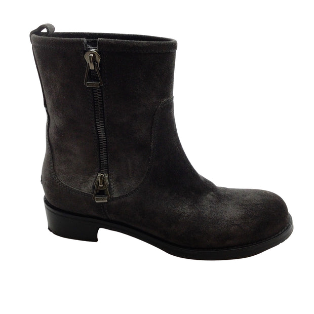 Jimmy Choo Charcoal Grey Suede Ankle Boots Booties
