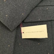 Stella McCartney Charcoal Grey Gold Stud Coat