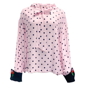 Vivetta Pink Polka Dot with Hood Blouse