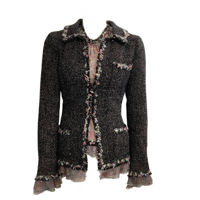 Chanel 2004 NYC Limited Edition Tweed Jacket & Top Set