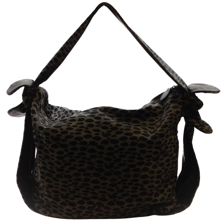 Walter Steiger Leopard Print Pony Hair Tote