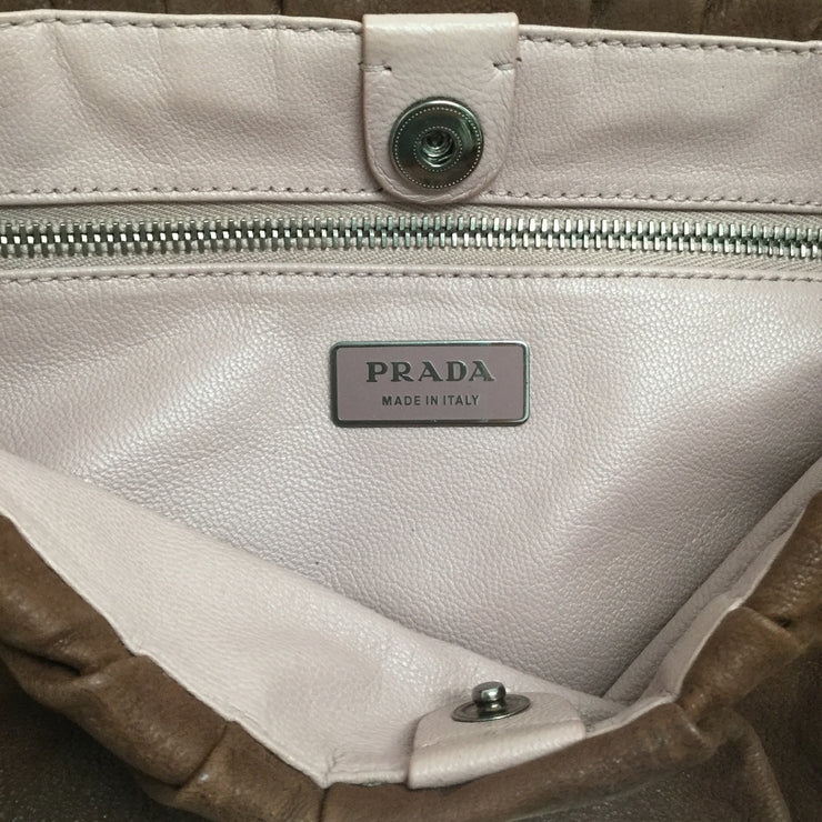 Prada Brown Leather Shoulder Bag