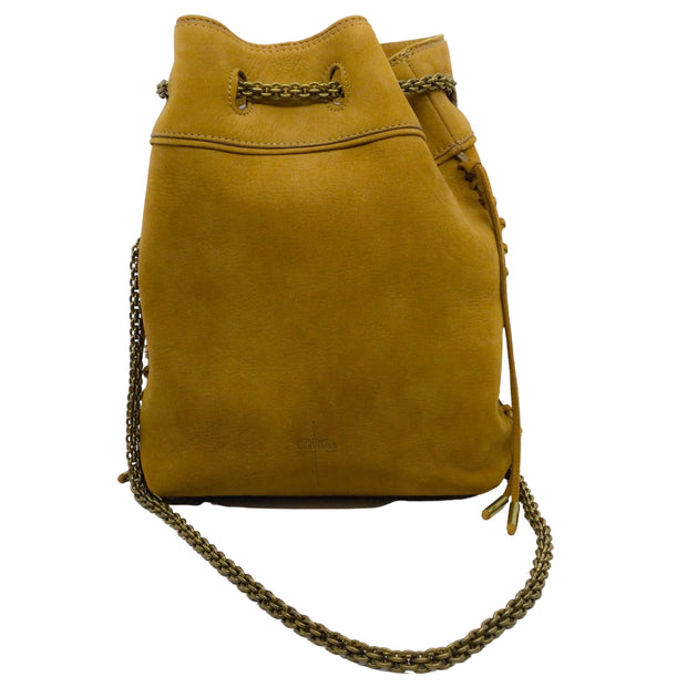 Jérôme Dreyfuss Garych Mustard Yellow Leather Shoulder Bag