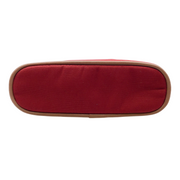 Hermès Red Bored Canvas Cosmetic Bag