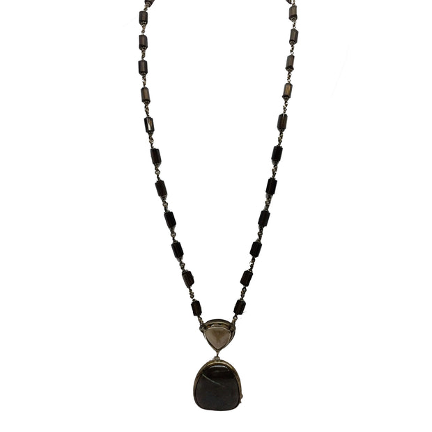 Stephen Dweck Smoky Quartz & Opal Necklace