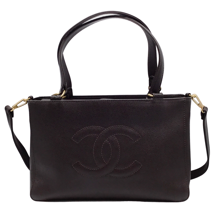 Chanel 2005 Caviar Brown Leather Tote