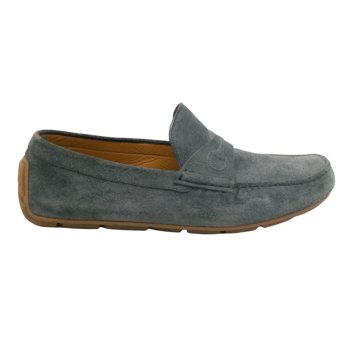 Gucci Grey Suede Men's Driving Loafers