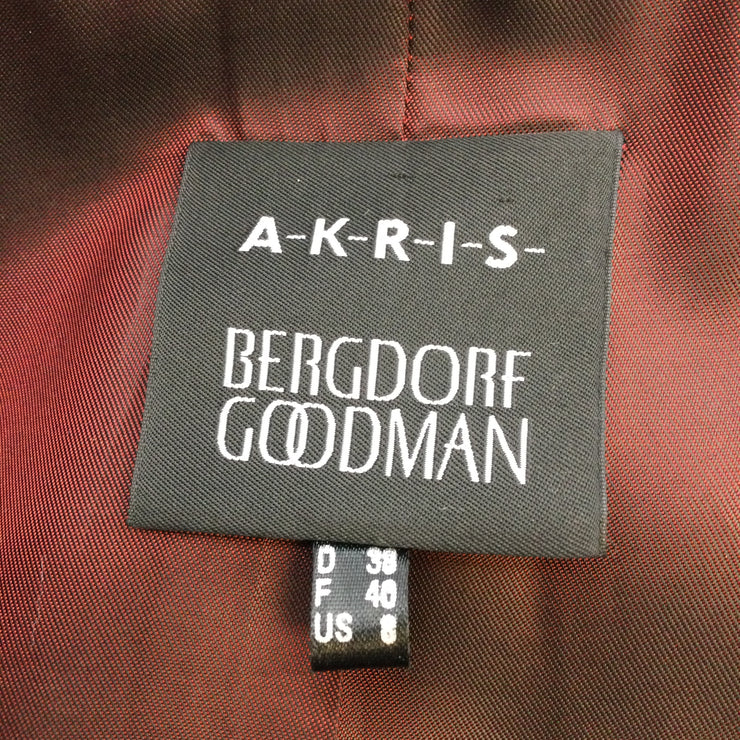 Akris for Bergdorf Goodman Red Lambskin Leather Jacket