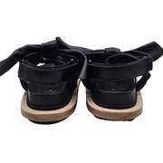 sacai Black Leather Bow Tie Sandals