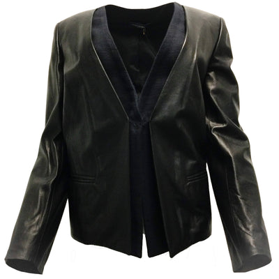 Piazza Sempione Black Leather Jacket