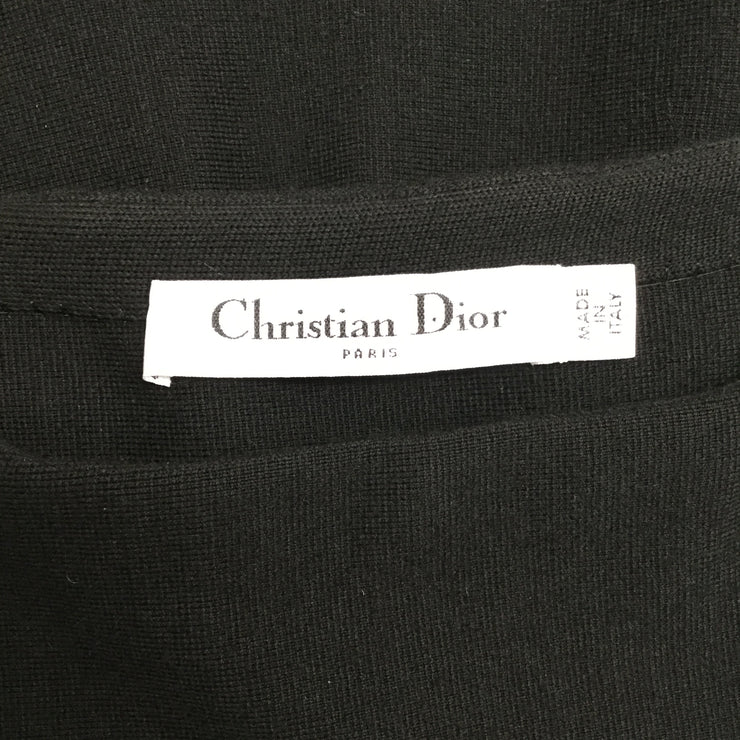 Dior Black Knit with Light Blue Trim Work/Office Dress