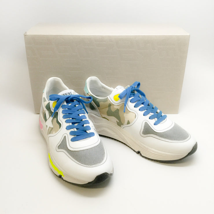 Golden Goose Deluxe Brand White / Camo Runner Sneakers