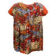 sacai Orange Floral Print Back Tee Shirt