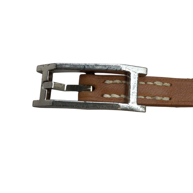Hermès Tan Leather Bracelet