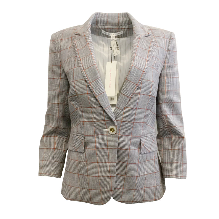 Veronica Beard Blue Multi Schoolboy Blazer