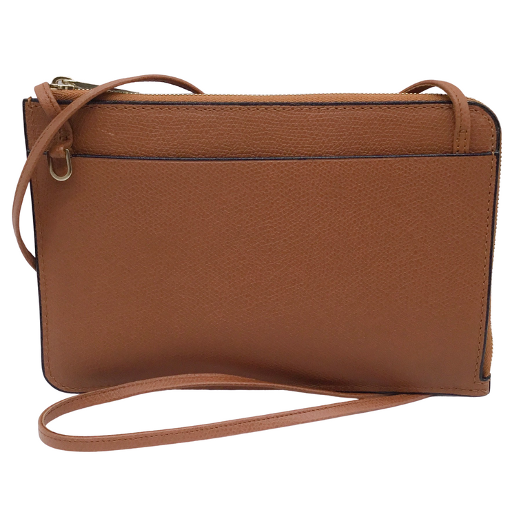 Valextra Saffiano Leather Zip Around Cross Body