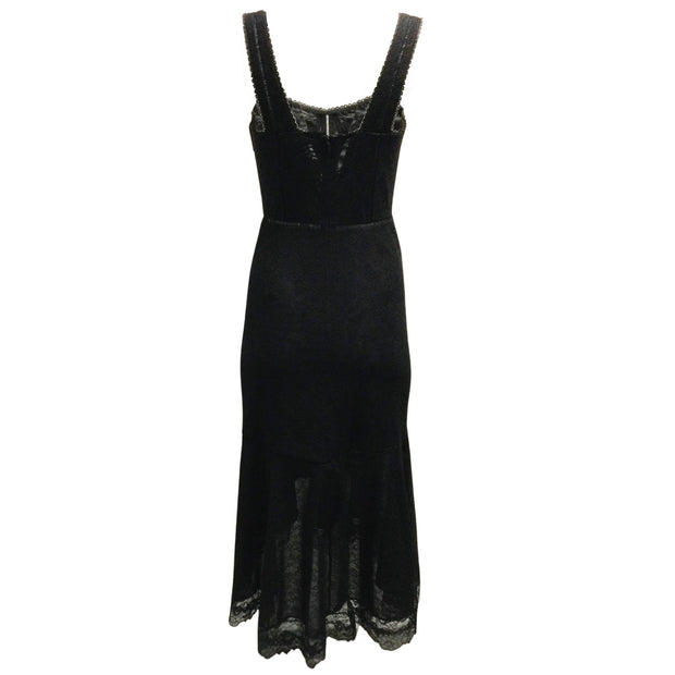 Jonathan Simkhai Black Lace Bustier Dress