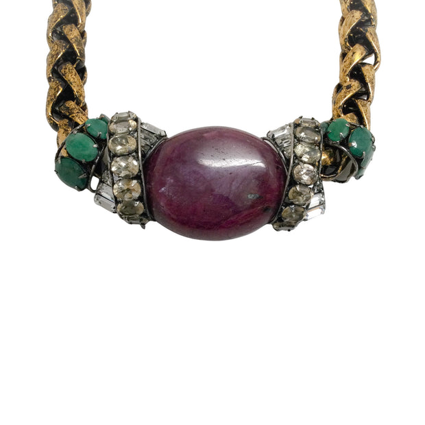 iRADJ Moini Jasper And Malachite Necklace