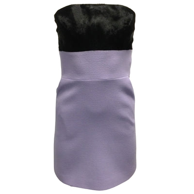 David Koma Lilac Strapless Mini Dress