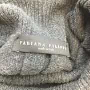 Fabiana Filippi Charcoal Grey Turtleneck Wool Blend Knit Sweater Dress