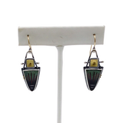 Keyworth Multi Color Sterling Silver and 22k Gold Earrings