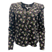 Veronica Beard Black Multi Asheville Blouse