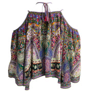 Camilla Multicolor Rhinestone Studded Tunic Blouse