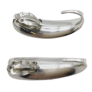 Robert Lee Morris Sterling Silver Curved Clip Earrings