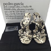 Pedro Garcia Natural Python Macy Sandals