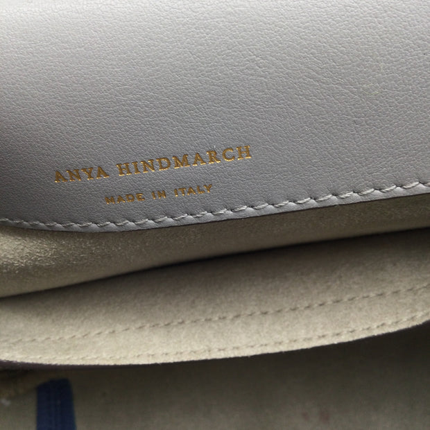 Anya Hindmarch Vere Soft Satchel Blue Leather Shoulder Bag