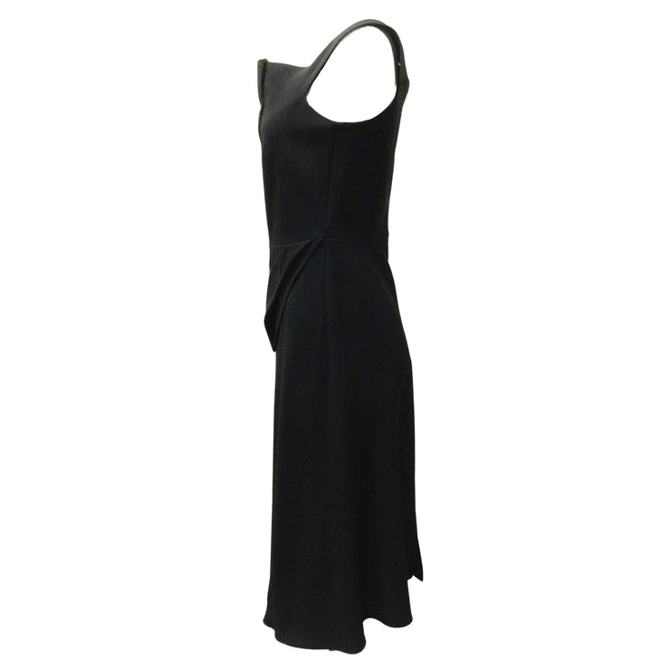 Roland Mouret Black Viscose Stretch Sleeveless Dress