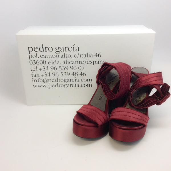 Pedro Garcia Oxblood Thora Sandals