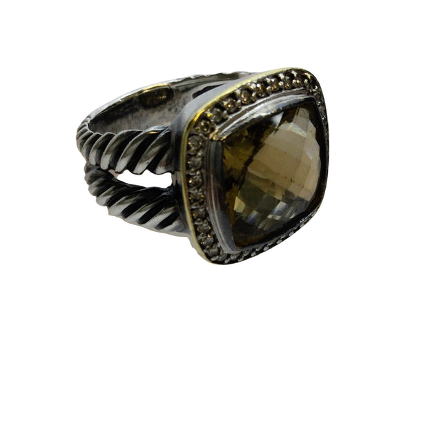 David Yurman Albion® with Champagne Citrine and Diamonds with 18k Gold Ring
