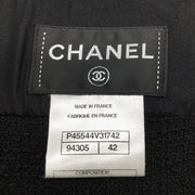 Chanel Black Sleeve Button Up Dress