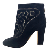 Dolce&Gabbana Black Suede Lace Booties
