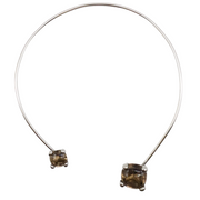 Goossens Paris White Gold and Smokey Quartz Necklace