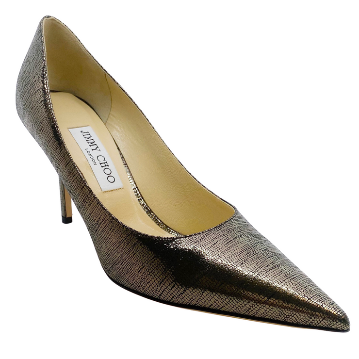 Jimmy Choo Love Silver Pumps