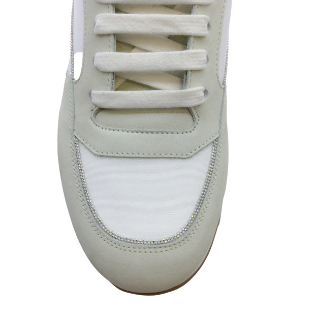 Peserico Beige Leather Sneakers