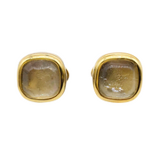 Goossens Paris Gilded Bronze Smokey Quartz Earrings