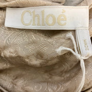 Chloé Blush Asymmetrical Blouse