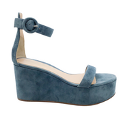Gianvito Rossi Teal Suede Sandals