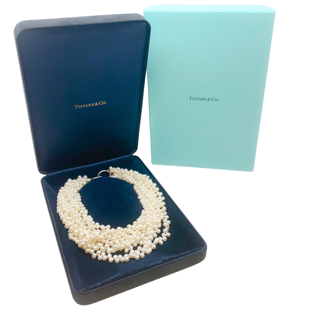 Tiffany & Co. Pearl Paloma Picasso Torsade Sterling Necklace