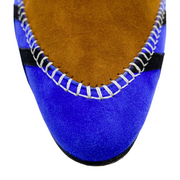 Manolo Blahnik Blue Multi Suede Eskima Booties