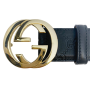 Gucci Black Signature Leather Belt