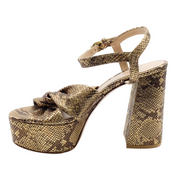Gianvito Rossi Bronze Donna Platform Sandals