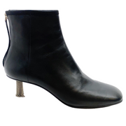 Calvin Klein 205W39NYC Black Grainne Leather Crystal Heel Ankle Boots